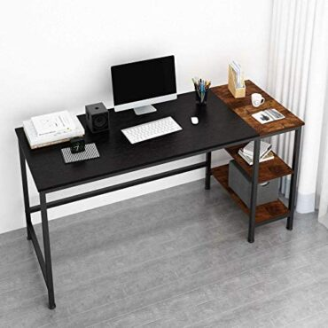 JOISCOPE Desk,Laptop Desk,Office Desk,Compare Desk with Shelves,Writing Desk,Industrial Desk Fabricated from Wood and Metal,152 x 60 x 75 cm (Sunless Invent)
