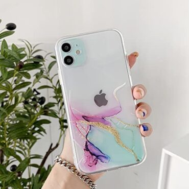 DEFBSC Case for iPhone 11, Marble Texture Semi-Transparent Case, Watercolour Marble Sample Slim Subtle TPU Bumper Shockproof Attend Quilt Case for iPhone 11 – Inexperienced