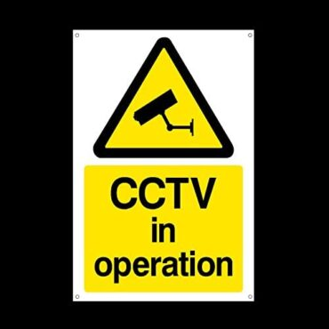 CCTV in Operation Plastic Signal with 4 Pre-Drilled Holes – Safety, Digicam, Closed Circuit TV, Warning Safety (MISC11)