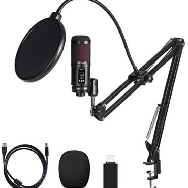 OTHA USB Microphone Kit 192KHZ/24Bit, Condenser Pc PC Mic with Noise Low cost, Cardioid Microphone for Podcast, YouTube, Gaming Streaming
