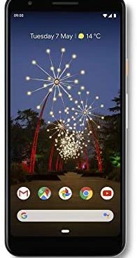 Google Pixel 3A Clearly White 64 GB SIM- Free Cell cellular telephone