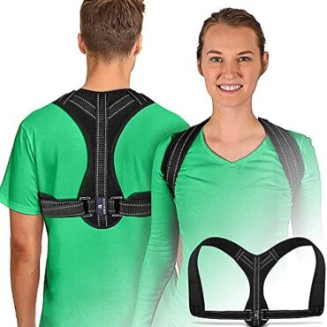 """Posture Corrector – Adjustable Support Brace for Neck, Shoulder, Better Support Trouble Reduction – Gentle-weight Support Straightener with Straps – Ergonomic Posture Make stronger Brace for Men and Girls folks, Chest Dimension 32""""-forty five"""""""