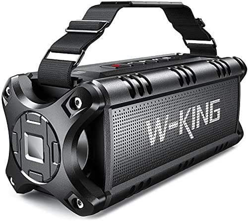 Bluetooth Speakers, W-KING 50W Transportable Bluetooth Speaker Loud, IPX6 Water resistant Outdoor Speaker with 8000mAh Vitality Monetary institution, Wi-fi Bass Speaker Bluetooth 5.0 with 24H Playtime/TF Card/AUX/NFC