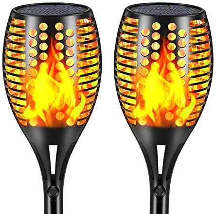 Aityvert Picture voltaic Torch Gentle Upgraded-Flickering Flames Torches Lights-Waterproof Picture voltaic Lights Exterior Panorama Decoration Lighting fixtures Dusk to Damage of day Auto On/Off for Backyard Pathway Driveway 2Pack