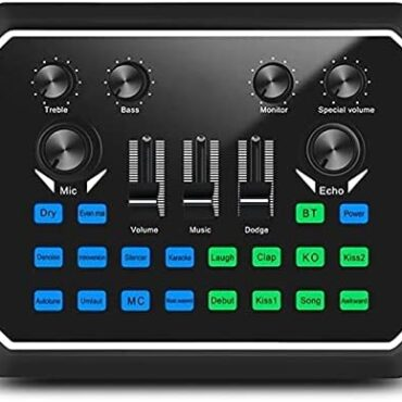 Feixunfan Audio Mixer Sound Card Digital Sound Card Stay Mixer Microphone Mixer for Streamers Podcasters (Coloration : Dark, Size : ONE SIZE)