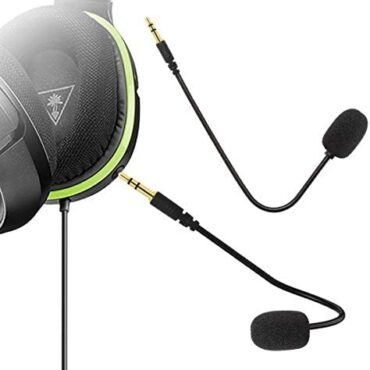 Ninge Substitute Microphone 3.5mm Sport Mic Increase – PDP Afterglow AG 6 Wired Xbox One PS4 Gaming Headset-Turtle Coastline Ear Force XO ONE Stealth 420X Recon 320 Z60