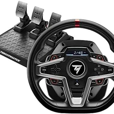 Thrustmaster T248 Racing Wheel and Magnetic Pedals, PS5, PS4, PC, HYBRID DRIVE
