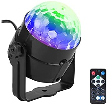 Disco Ball Gentle Birthday party Lights, RGB Stage Lighting fixtures with A ways flung Support an eye fixed on Portable Stage Gentle for Dwelling or Room Birthday party Birthday Bar Karaoke DJ Wedding ceremony (Jog Kind : UK Jog)