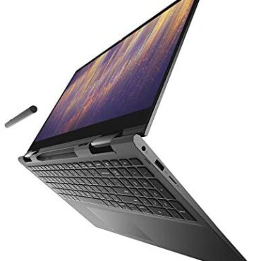 Dell Inspiron 7306 13.3 Scramble FHD (1920 x 1080) 2-in-1 Computer, Intel Core i7-1165G7 (11th Gen), with Active Pen and Charging Dock, 16 GB RAM, 512 GB SSD, Earn 10 Dwelling (Part shaded)