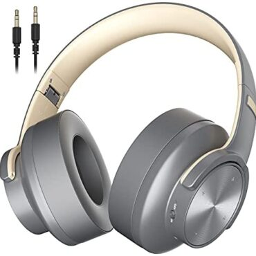 Wireless Headphones Over Ear Bluetooth Foldable Hey-Fi Surround Sound with Contact Alter Built-in Mic for Phone Pad PC 1000mAh