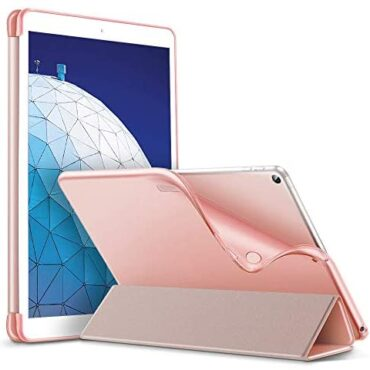ESR Slim Shipshape Case for iPad Air 3 2019, Versatile TPU Again Screen with Rubberized Coating, Auto Sleep/Wake and Viewing/Typing Stand, Rose Gold