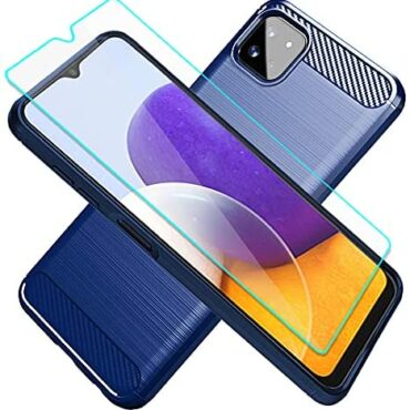 Cuoqing Samsung Galaxy A22 5G Case, Samsung A22 Phone Case, A22 Case With HD Conceal conceal Protector, Gentle TPU Slim Vogue Non-Bound Protective Phone Cases Duvet for Samsung Galaxy A22 5G