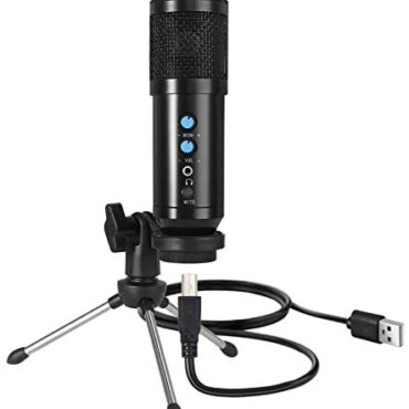 LiNKFOR USB Microphone for Pc with 3.5mm Jack Condenser Microphone Beef up Volume Retain an eye on for Advise Streaming Broadcast Video games YouTube Videos on Dwelling windows Mac