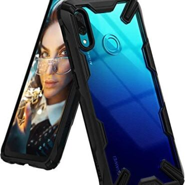 Ringke Fusion-X Smartly matched with Huawei P Neat 2019 Case, In-built Dot Matrix Rear PC Anti-Hang Renovated Bumper [Military Drop Tested Defense] Double Safety Cloak for P Neat (2019) – Unlit