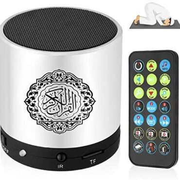 Transportable Digital Quran Speaker,Anlising Quran Speaker with A ways-off Relieve watch over,Quran Speaker MP3 Player,Quran Translator,USB Rechargeable,8GB,over 18 Reciter and 15 Translations Readily available(Silver)