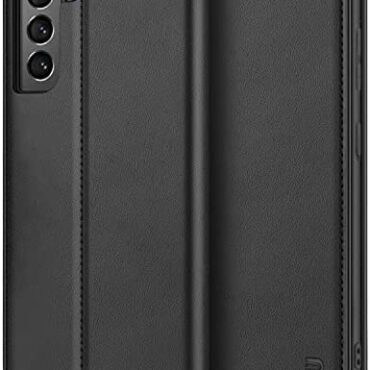BEZ Samsung S21 Case, Samsung Galaxy S21 Case Like minded with Samsung Galaxy S21 5G / 4G, Protective PU Leather-based Pockets Flip Phone Duvet with a Card Holder, Kick Stand, Magnetic Closure, Shaded